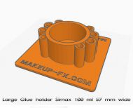 Glue holder for 100 ml lab bottles. Free 3D download
