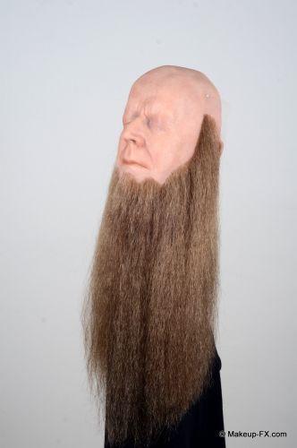 Beard, Medium brown,  Long