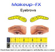 Eyebrows, Dark brown