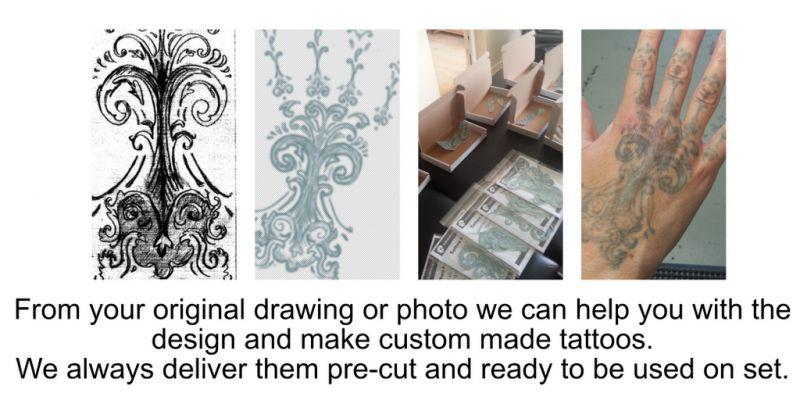 Custom made tattoos