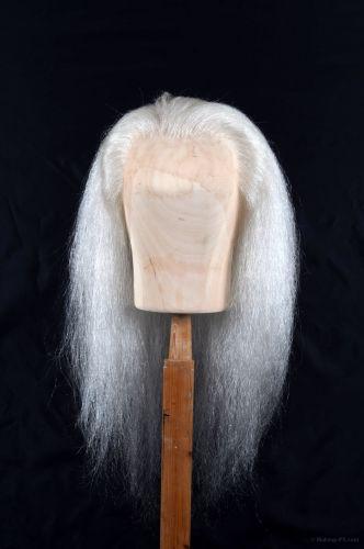Wig, White buffalo hair